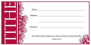 TITHE ENVELOPE-MATTHEW 6:21 PKG.100