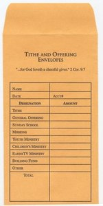 OFFERING ENVELOPE-GOLD BILL SIZE