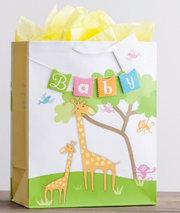GIFT BAG-BABY GIRAFFE LARGE
