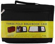 BIBLE COVER-BLK MICRO FIBRE / 3-FOLD-X LARGE