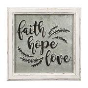 """SIGN- FAITH HOPE LOVE (12X12"""")"""