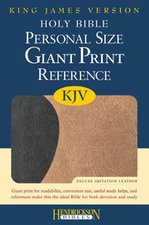KJV-GIANT PRINT DUO TONE BROWN/CHOC