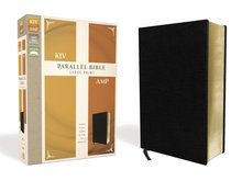 KJV/AMP PARALLEL BIBLE- LARGE PRINT- LEATHER (BONDED)