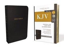 KJV Personal Size Giant Print Reference Bible (Comfort Print)-Black Leatherflex