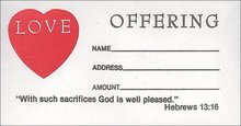 LOVE OFFERING- ENVELOPES HEBREWS 13:16