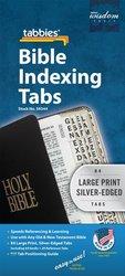 BIBLE TABS-SILVER LARGE PRINT